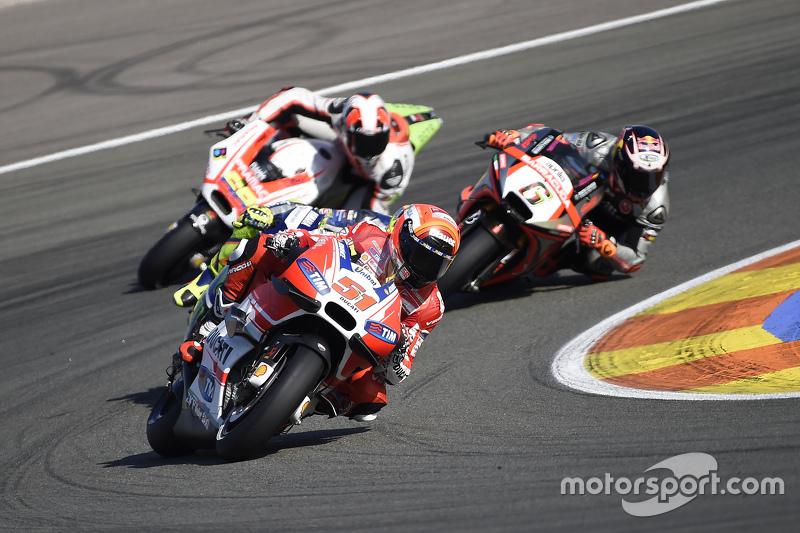 Michele Pirro, Ducati Takımı ve Stefan Bradl, Aprilia Gresini Yarış Takımı ve Danilo Petrucci, Prama