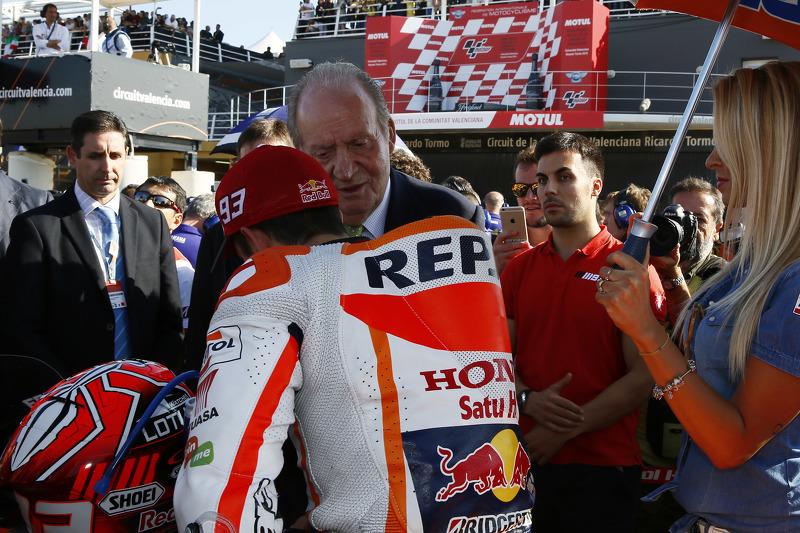 مارك ماركيز، هوندا وملك إسبانيا السابق خوان كارلوس
