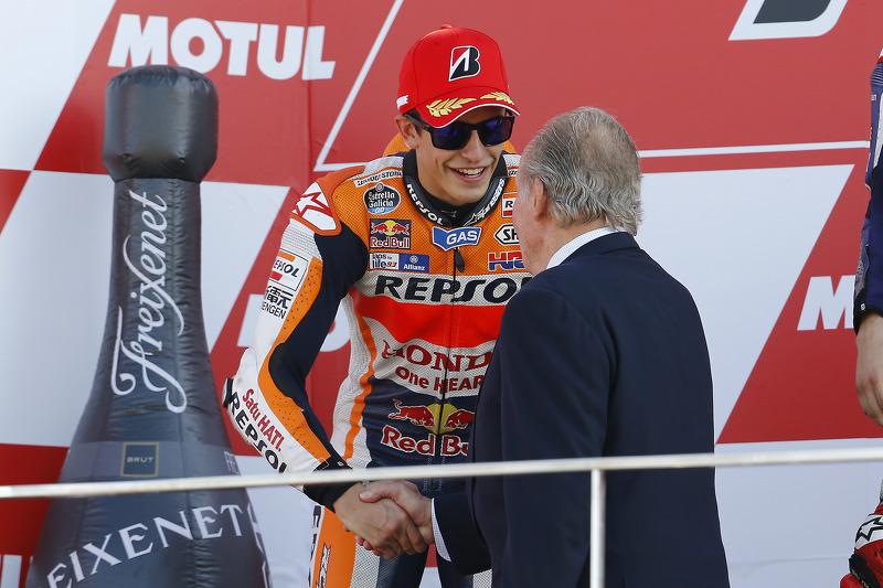 Podium: Second place Marc Marquez, Repsol Honda Team