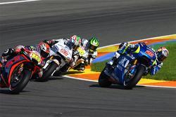 Maverick Viñales, Team Suzuki MotoGP; Alvaro Bautista, Aprilia Racing Team Gresini; Nicky Hayden, Aspar Team MotoGP Honda; Cal Crutchlow, Team LCR Honda