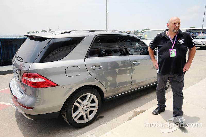 Lewis Hamilton, Mercedes AMG F1 arrives at the paddock
