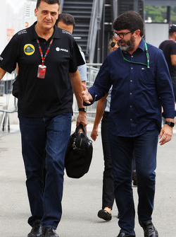 (L to R): Federico Gastaldi, Lotus F1 Team Deputy Team Principal with Luis Garcia Abad, Driver Manager