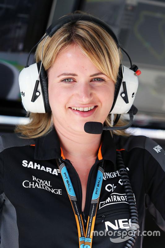 Bernadette Collins, Sahara Force India F1 Team Performance en Strategy Engineer