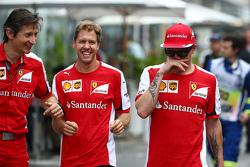 Massimo Rivola, Ferrari com Sebastian Vettel, Ferrari e Kimi Raikkonen, Ferrari