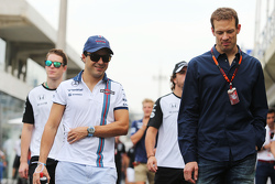 (L to R): Felipe Massa, Williams with Alex Wurz, Williams Driver Mentor / GPDA Chairman