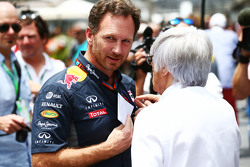 Кристиан Хорнер, руководитель Red Bull Racing и Берни Экклстоун