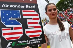Chica de la parrilla para Alexander Rossi, Manor Marussia F1 Team