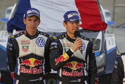 Podium: ganadores, Sébastien Ogier y Julien Ingrassia, Volkswagen Motorsport