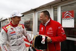 Yves Matton, Citroën Racing Team Principal with Kris Meeke, Citroën World Rally Team