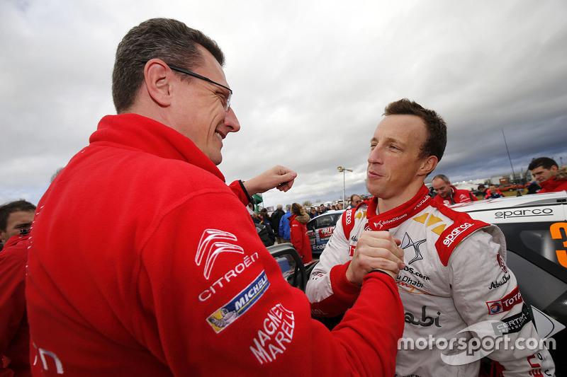 Marek Nawarecki менеджер команди Citroën Racing з Кріс Міке, Citroën World Rally Team