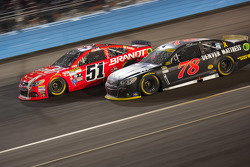 Martin Truex Jr., Furniture Row Racing Chevrolet; Justin Allgaier, Hscott Motorsports Chevrolet
