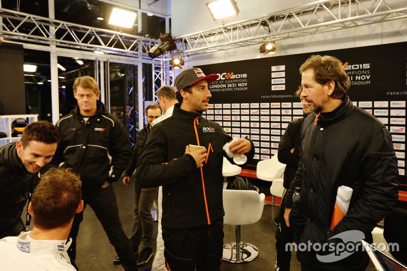 Daniel Ricciardo mit ROC-Gründer Fredrik Johnsson