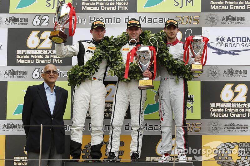 Podium: winner Stefan Mücke, Craft-Bamboo AMR, second Maro Engel, Mercedes AMG Driving Academy, third Edoardo Mortara, Audi Sport Team Phoenix