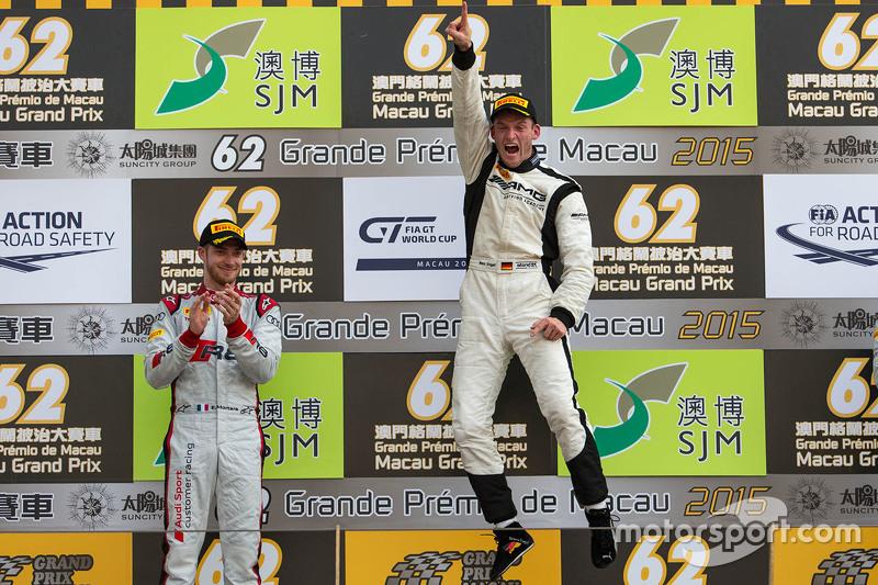 Podium: 1. Maro Engel, Mercedes AMG Driving Academy; 2. Edoardo Mortara, Audi Sport Team Phoenix
