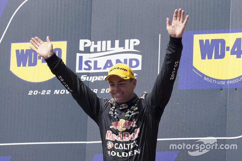 Podium: 1. Craig Lowndes, Triple Eight Race Engineering, Holden