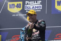 Podium: winner Craig Lowndes, Triple Eight Race Engineering Holden celebrates his victory with champagne