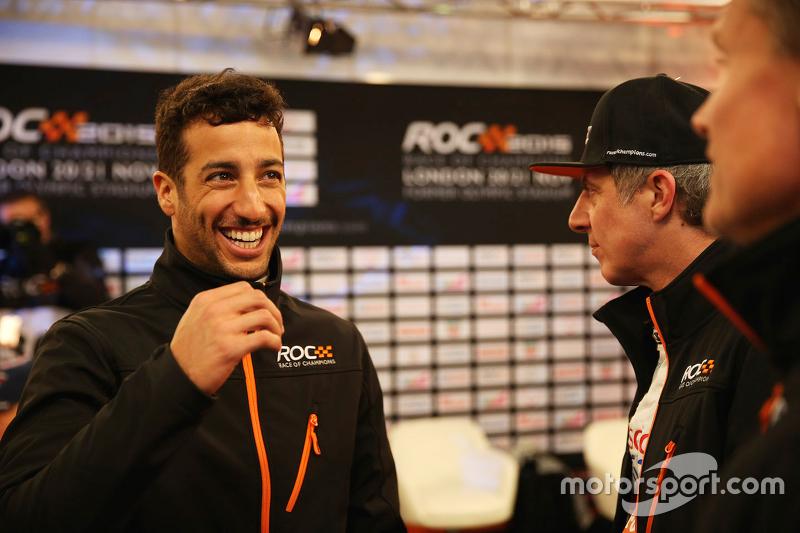 Daniel Ricciardo und David Coulthard