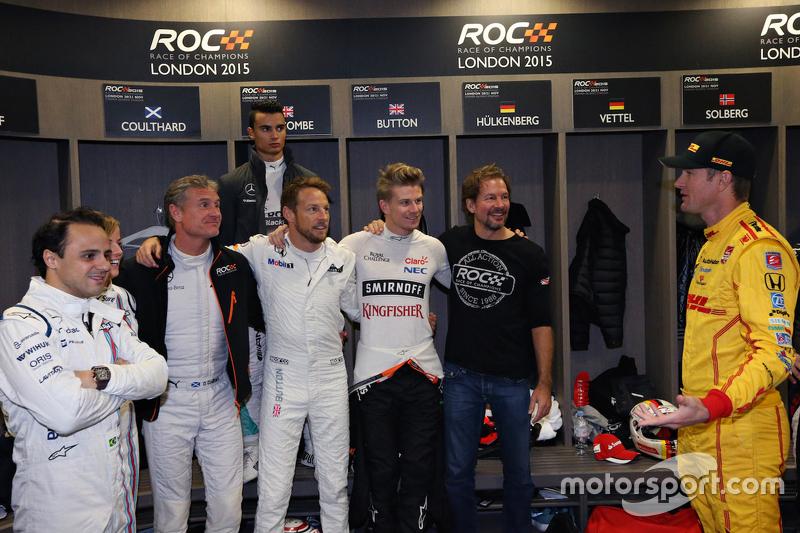 Felipe Massa, David Coulthard, Pascal Wehrlein, Jenson Button, Nico Hülkenberg, ROC-Gründer Fredrik