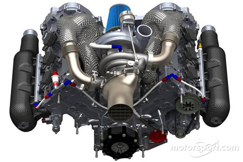#2: Schematische Darstellung eines Formel-1-Motors