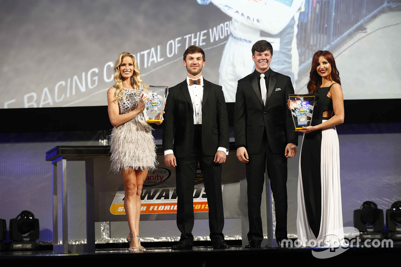 Rookie of the Year winners Daniel Suarez, Erik Jones