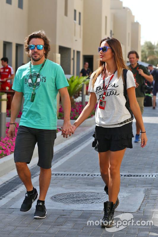 Fernando Alonso mit Lara Alvarez