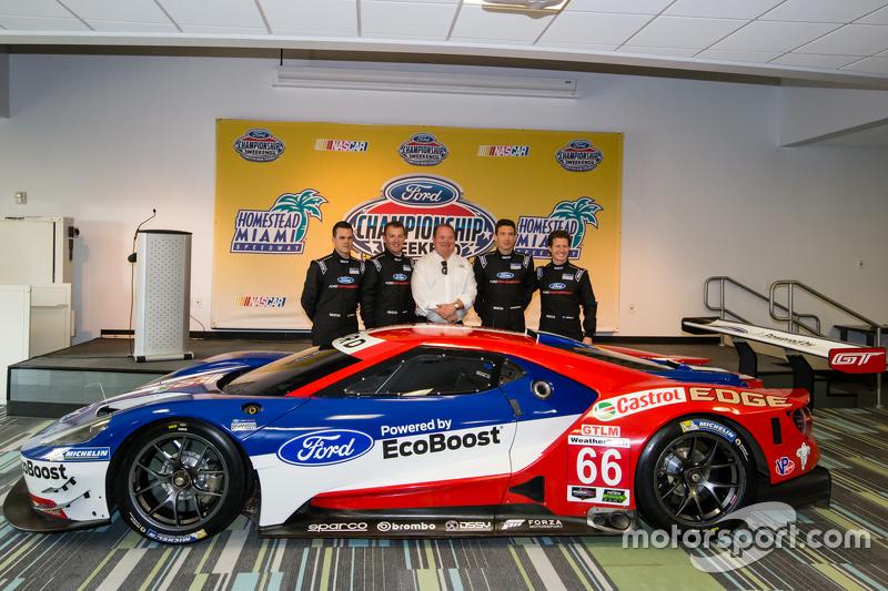 Chip Ganassi Racing Ford GTLM drivers для IMSA та Le Mans: Дірк Мюллер, Джоі Хенд, Річард Вестбрук т
