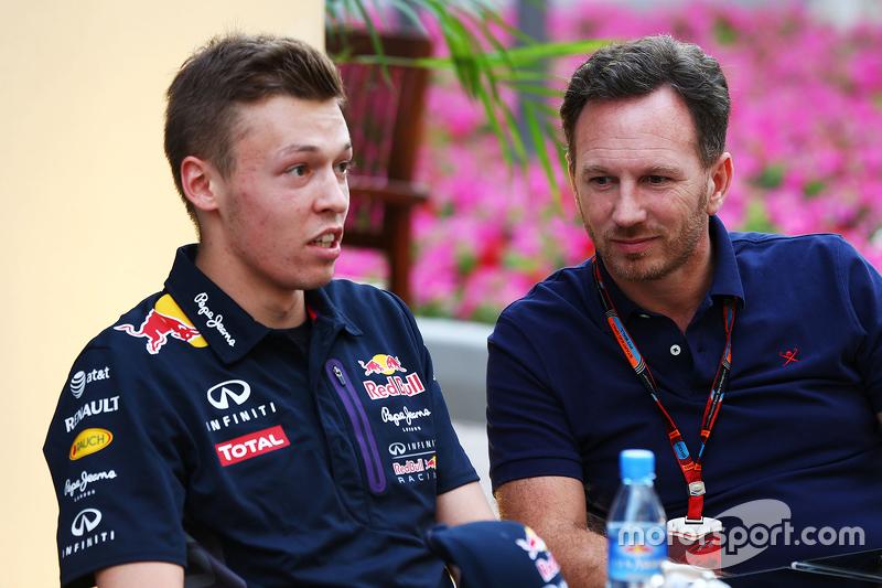 Daniil Kvyat, Red Bull Racing, mit Teamchef Christian Horner, Red Bull Racing