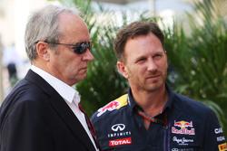 Jerome Stoll, Renault Sport F1 President met Christian Horner, Red Bull Racing teambaas