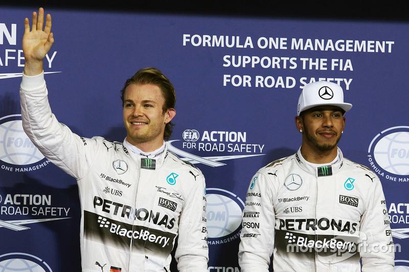 1. Nico Rosberg, Mercedes AMG F1 Team; 2. Lewis Hamilton, Mercedes AMG F1 Team