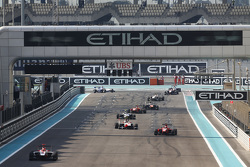 Virtual Safety Car, as Esteban Ocon, ART Grand Prix, Kevin Ceccon, Arden International y Marvin Kirchhofer, ART Grand Prix