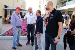 Niki Lauda, Mercedes; Dr Helmut Marko, Red Bull Motorsport; Alain Prost, Lotus F1 Team