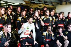 Ромен Грожан, Lotus F1 Team на командном фото