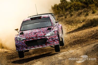 Schottertest des Hyundai i20 WRC
