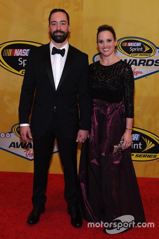 Paul Menard, Richard Childress Racing Chevrolet and wife Jennifer