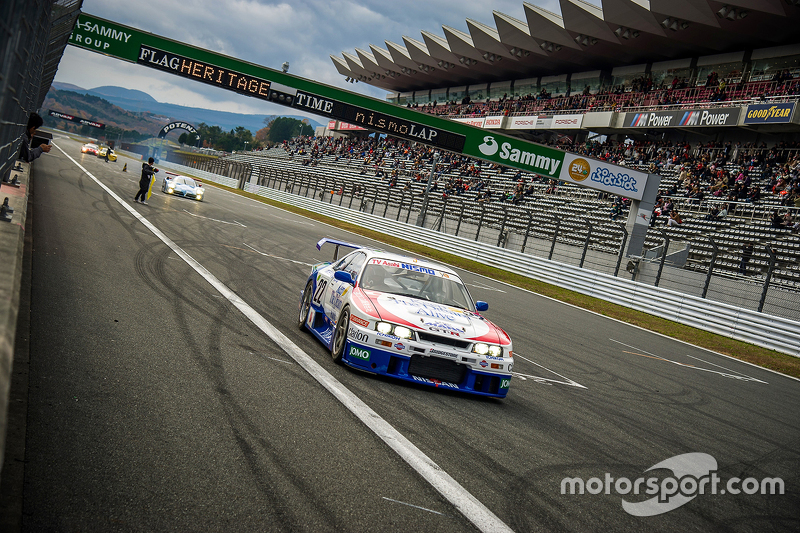 On track action with a Nissan GT-R R33