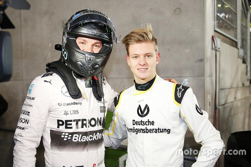 Nico Rosberg and Mick Schumacher