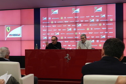 Sergio Marchionne, Ferrari President and CEO of Fiat Chrysler Automobiles with Maurizio Arrivabene, Team Principal Scuderia Ferrari