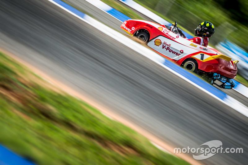Christian Fittipaldi em seu kart
