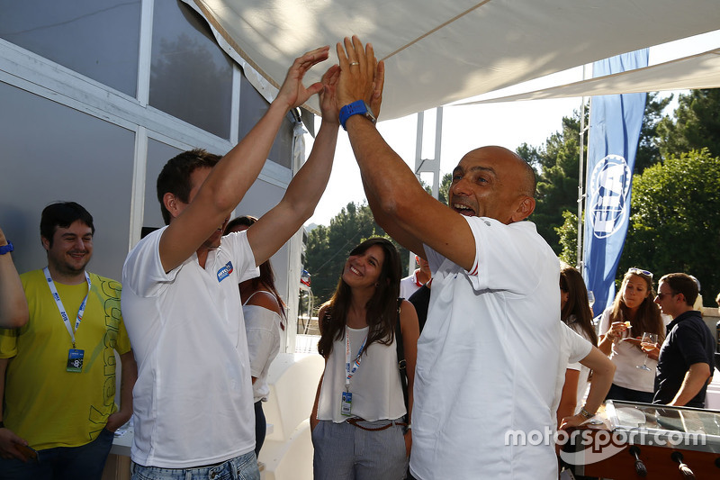 Gabriele Tarquini, Honda Racing Team JAS and Tiago Monteiro, Honda Racing Team JAS