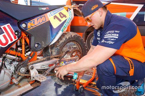 Präsentation der KTM-Fahrer