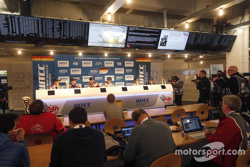 Press conference: Mehdi Bennani, Citroën C-Elysee WTCC, Sébastien Loeb Racing, Norbert Michelisz, Ho