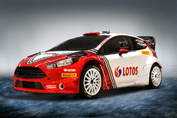 Farbdesign für Robert Kubica und den Ford Fiesta von BRC Racing