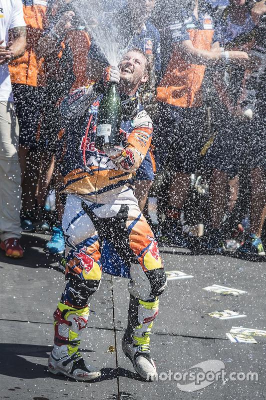 Winnaar motoren Toby Price, KTM