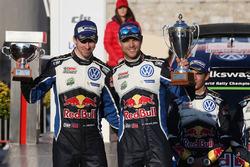 Podio: secondo Andreas Mikkelsen, Anders Jäger, Volkswagen Motorsport