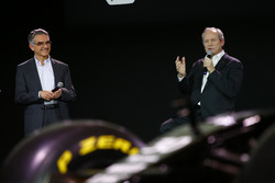 Jerome Stoll, Renault Sport F1 president with Patrice  Ratti, Renault Sport Technologie general manager