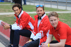 Nick Heidfeld, Bruno Senna ve Danny Webb, Mahindra Racing
