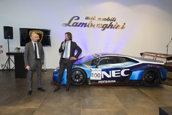 Giorgio Sanna, Lamborghini Head of Motorsport and Stéphane Ratel, CEO of SRO Motorsports Group
