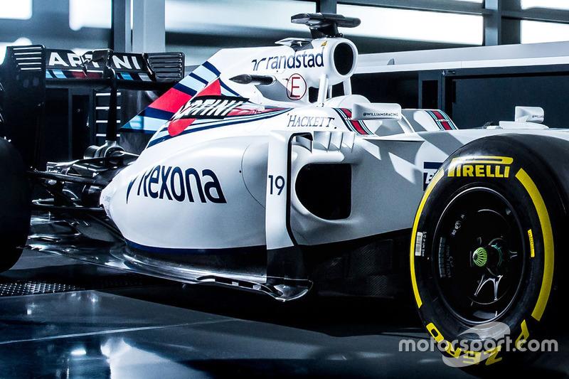 La Williams FW38 di Felipe Massa, dettaglio della livrea
