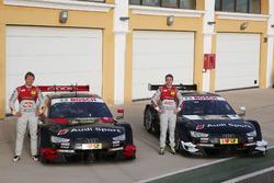 Mattias Ekström, Jamie Green mit den Audi RS 5 DTM Testwagen