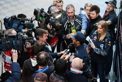 Daniel Ricciardo, Red Bull Racing with the media